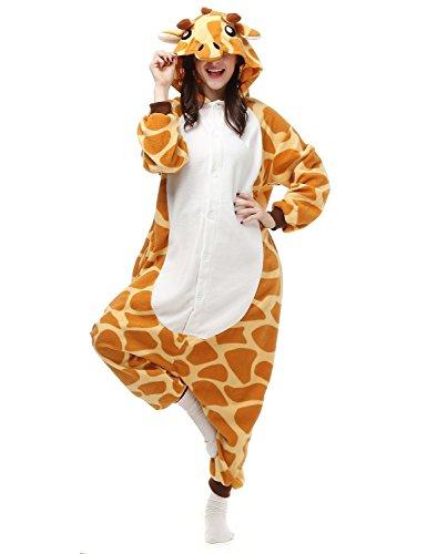 Crazy lin Unicorn Karikatur Overalls Pyjama Nachtwäsche Nacht Kleidung Dress Up, Maskerade Partei Kostüme (M, Giraffe) (Giraffe Up Dress)