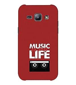 EPICCASE Music is my life Mobile Back Case Cover For Samsung J1 Ace (Designer Case)
