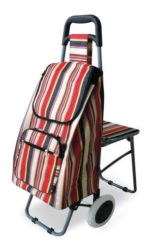 NRS M78731 Freizeittrolley mit ausklappbarem Sitz - Einzelne Rollen
