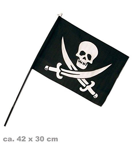 Piratenflagge klein, ca. 42 x 30 cm