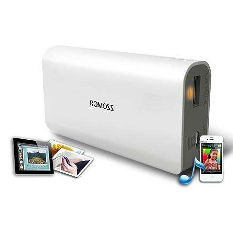 Romoss 2600mah 5200mah Battery Batteria Batterie de secours externe et chargeur avec connecteur Micro-USB et LED lampe de poche samsung cell pour iPhone, ipad, tablet pc, tablettes tactiles, samsung android phone, smartphone, 5V 1A USB etc (Sense 2 5200mah expédié par Amazon)