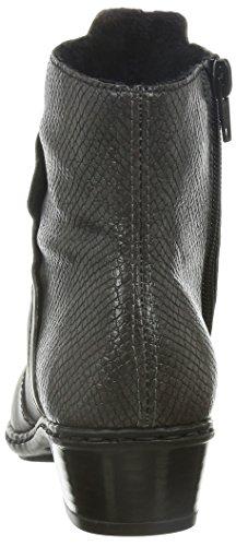 RiekerY0769 - Stivali classici imbottiti a gamba corta donna Grigio (Grau (graphit/stromboli / 45))