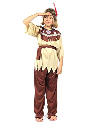 ndianer braun - large - 140-146 | Kostüm | Kinder | Karneval | Fasching | Verkleidung | Preis am Stiel® (Am Besten Hippie Kostüme)