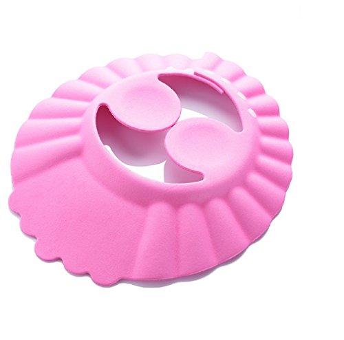 (mod.3 rosa) cuffia - bagnetto - bagno - doccia - proteggi occhi - orecchie - bambini - morbida - regolabile - comoda - colorata - idea regalo