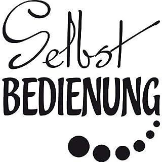 GRAZDesign Wandsticker Küche selbstklebend Selbst Bedienung - Kühlschrankaufkleber Schriftzug Lustiger Spruch Essen Diät - Kühlschrank Aufkleber Sticker / 59x57cm / 620492_57_070