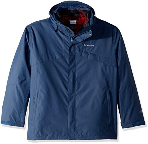 Columbia Men's Bugaboo Ii Big & Tall Fleece Interchange Jacket, Dark Mountain, 2X Tall Mens Fleece