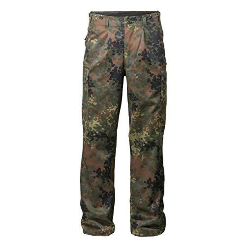 FLECKTEX Original Bundeswehrhose BW Feldhose Flecktarn 5- Farbig für Männer   Outdoor Kampfhose und Survival Hose   Tactical Hose und Security Hose (10)