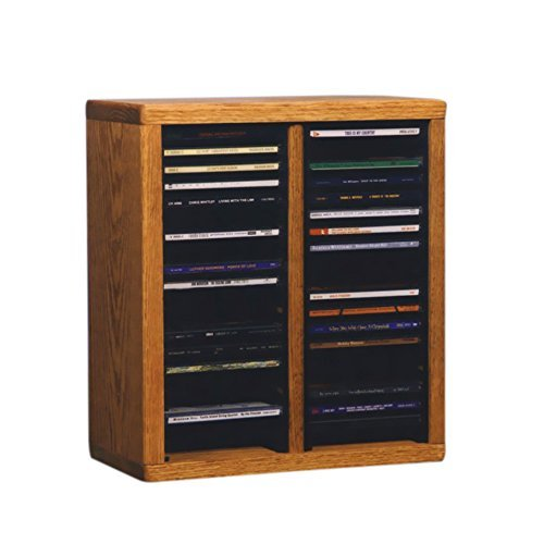 Oak Finish Media (Cdracks Media Furniture Solid Oak Desktop or Shelf CD Cabinet Capacity 40 CD's Honey Finish by CD Racks)