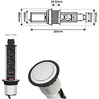 Eingangsspannung: 220-240V CE//RoHs IP20 5 Jahre Garantie AC Farbe: Schwarz Qualit/äts LED- POP UP Leuchte f/ür EXPO R/ückw/ände mit Adapter f/ür GU10 LED- Spot