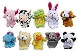 Westeng Tier Fingerpuppen Set Baby Weiche Plüschtiere Samt Puppen Finger Karikatur Tiere Packung mit 10 Stück