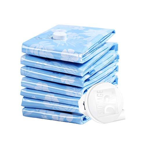 Blue Film 7 grand sac de compression sous vide pompe de transmission de puissance coton couette vêtement sous vide sac d'emballage sac 90 * 70 7-pompe de distribution