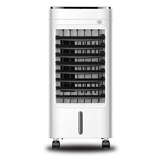 Qww raffrescatore ventilatore, umidificatore portatile ad acqua ghiaccio 3 velocita contenitore acqua 5 litri telecomando 3 in 1 timer,mechanical