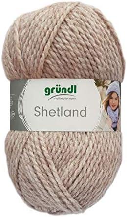 Gründl Laine Shetland Couleur 06 - mocca mélange - - - Fil à tricoter à la main en Tons pastel Pour Tricotage & Crochetage B014Z35F3O 25b099