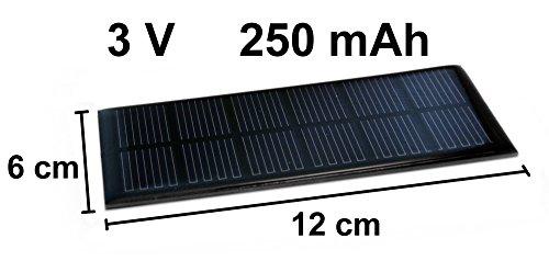 Solarzelle 3V 250mAh Solar Solarmodul 12cm x 6cm Mini Kleine Hobby Zelle