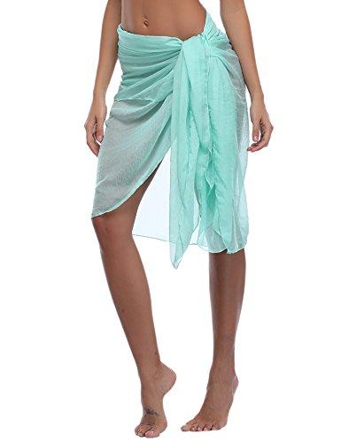 Bikini-cover Up (iClosam Damen Strandkleid Bikini Cover up 2019 Sommer Bikini Kleid Damen Pareos & Strandkleider,Multifunktional,Durchsichtig)
