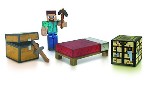 Minecraft Enderman Kostüm - Minecraft 16450 - Core Survival Pack, Steve-Figur mit Zubehör