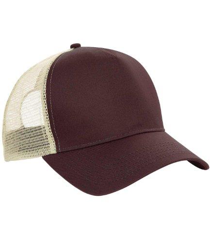 Gorra béisbol malla marca Beechfield Marrón
