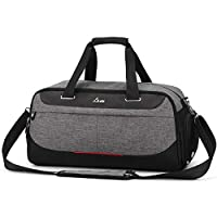 Segorts Gym Duffle Bag Waterproof Travel Tote Luggage Bag Weekender Bag with Shoes Compartment Wet Pocket for Men Women 30L
