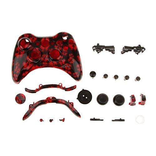 Ersatzfall Gehäuse Case Hülle Shell Taste Kit für Xbox 360 Controller - #7 (Shell 360-controller Und Xbox)