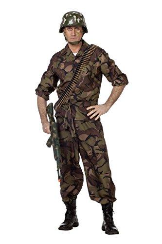 Herren Kostüm Soldat Camouflage Uniform Karneval Fasching Gr.50 (Camouflage Kostüm)