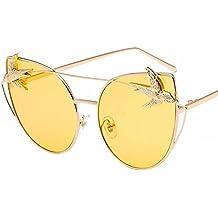 Aoligei Sonnenbrille weibliche Katzenauge Flut Persönlichkeit Gläser Vogel ursprünglichen Host Wind Retro-Ocean Film Sonnenbrille VWrjqaOS
