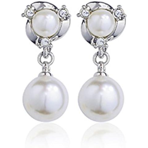 ZWX ladies fashion clip orecchio/Non forati PINZABILI/La versione coreana di gioielli perla dell
