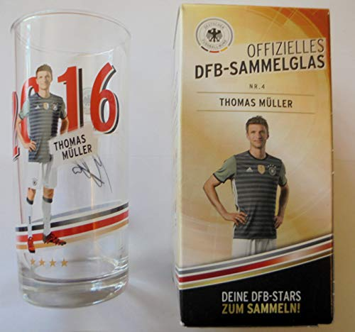 DFB Offizielles Sammelglas Fussball EM 2016 Rewe OVP Thomas Müller Glas Müller