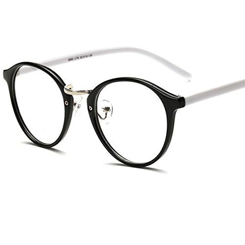 LANOMI Retro Nerdbrille Runde Oval Brille Geblümte Brillenfassung Ohne Stärke Hornbrille mit...