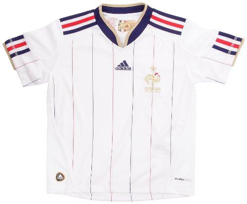 Adidas-Camiseta de fútbol de la selección de Francia de FFF. exterior para niño, color blanco y dorado, color - blanco y dorado, tamaño 8 años
