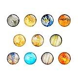 Leegoal Planeten-Kühlschrank-Magnete, 11 Stück, Kreative Kühlschrank-Magnete, Büro-Magnete, Kalendermagnet, Whiteboard-Magnete, Einweihung, Heimdekoration, Geschenk