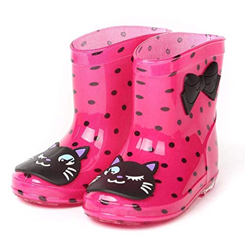 Queque Shine Baby Girls Boys Wellingtons Cute Animal Rain Boots Rubber Shoes for Children