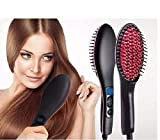 Seven Beauty Professional Ceramic Electric Hair Straightener Brush with Temperature Control and Digital