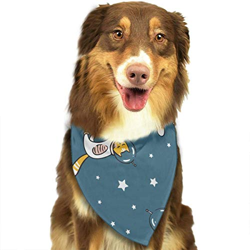 Rghkjlp Funny Cat Astronaut Space Dog Bandana Collars Triangle Neckerchief Puppy Bibs Scarfs Pet Scarfs Cats and Baby Scarf Towel
