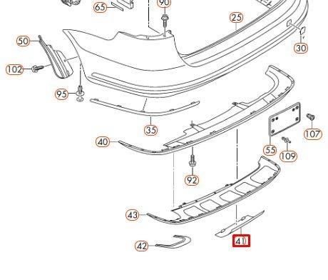 Abdeckung für Stoßstange/Anhängerkupplung für Passat B7 3AF807397A U34