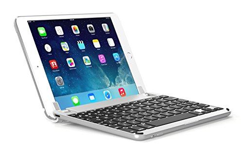 Aluminium-tastatur (BRYDGE 9.7, Hochwertige Bluetooth Tastatur aus Aluminium, deutsches Layout QWERTZ, für das iPad Air, Air 2, iPad Pro, iPad 2017 und das neue iPad 2018, silber)