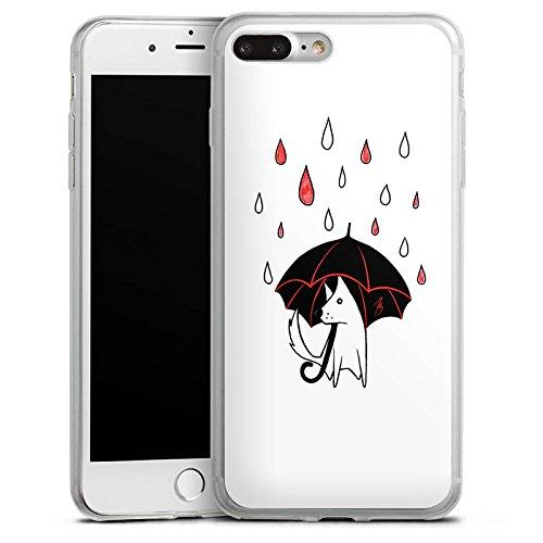 Apple iPhone X Slim Case Silikon Hülle Schutzhülle Hund Comic Style Regen Silikon Slim Case transparent