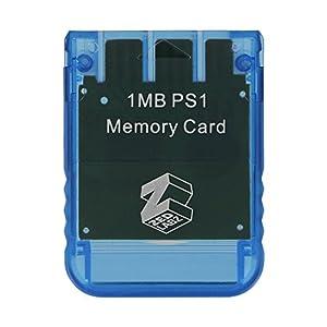 ZedLabz Speicherkarte für Sony PS1, 1 MB, 15 Block, PSX, Playstation One PSone (kompatibel mit PS2 1MB ( 1 x 1MB Memory…