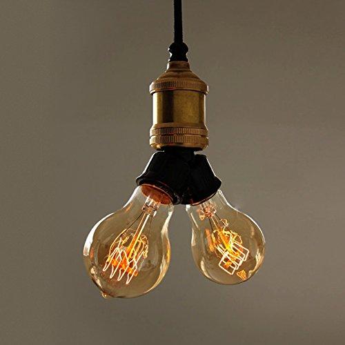 Lingkai 2 luci semplici sospensione luce industriale stile lampada a soffitto singola forma lampada
