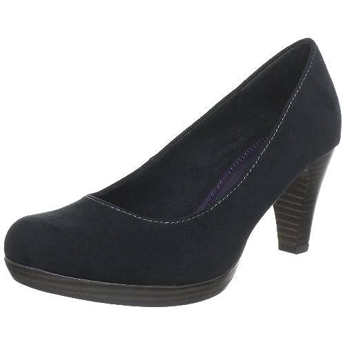 Womens 22426 Closed Toe Heels, Black, 4 UK Marco Tozzi