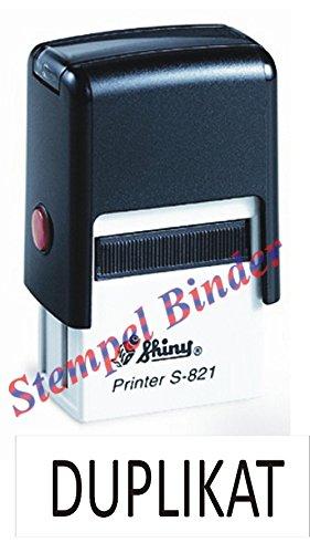 Preisvergleich Produktbild Automatikstempel mit Stempelkissen 10 x 26 mm mit Text: DUPLIKAT