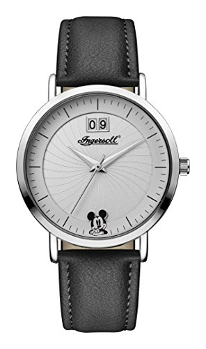 Ingersoll Disney Women's Union Quartz Watch with Weiß Dial andSchwarz PU Leather Strap ID00501