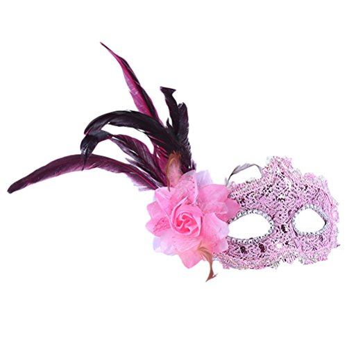 Zhhlaixing Venetian Lace Sequins Masquerade Masks Eye Fancy Dress Party/Masked Ball Holloween for Womens