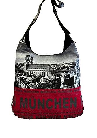 Robin Ruth Canvas Umhängetasche München Foto in schwarz (Maße: LxHxT 38x33x12 cm)