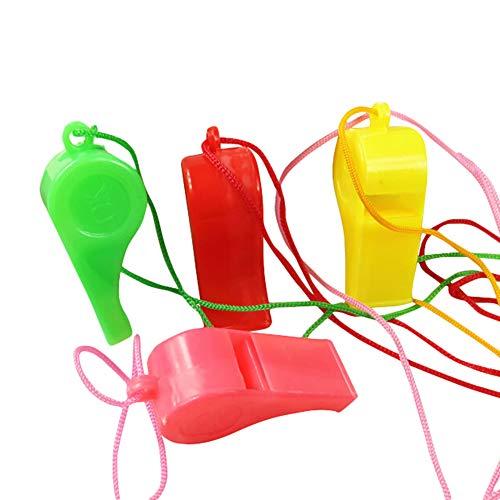 BIKITIQUE 1 STÜCKE Kunststoff Pfeifen Lanyards Party Sports Whistle Halskette Party Favors