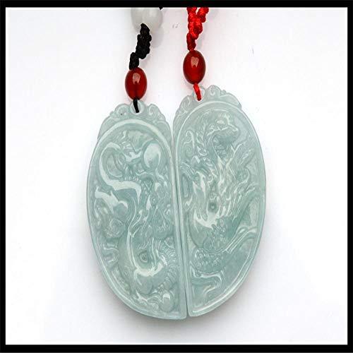 Zhiming Drache und Phoenix Paare Anhänger natürliche Jade-Drachen und Phoenix Zubehör Anhänger Herz-Anhänger Jade Anhänger