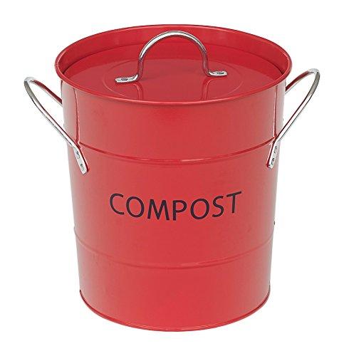 Victor Kompost Eimer mit Liner, rot