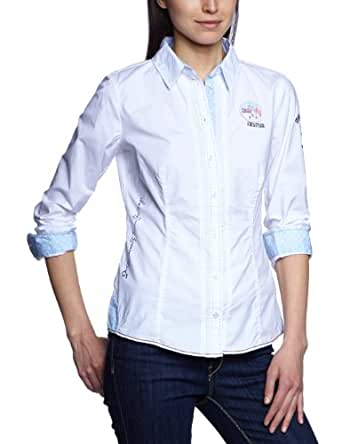 TOM TAILOR POLO TEAM Damen Bluse 20178790073/solid statement blouse, Gr. 38, Weiß (2000 white)