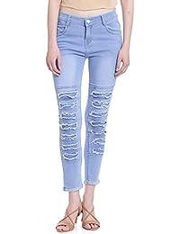 Broadstar Women Denim Ice Blue Jeans