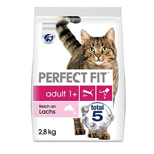 Perfect Fit Katzenfutter Trockenfutter Adult 1+ Reich an Lachs, 1 Beutel (1 x 2,8 kg)