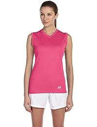 New Balance Ladies Ndurance Athletic V-Neck Workout T-Shirt